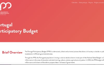 Portugal – The World's first National Participatory Budget